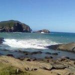 vista de la laguna de Ponta da Lagoinha, que se va rellenando con las olas del mar rompiendo.