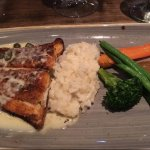 Blackened halibut with risotto