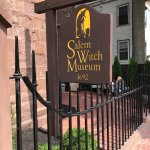 The sign leading into the Salem Witch Museum.