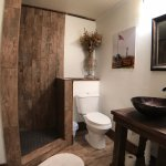 Bathroom in Ranch room with walk in shower