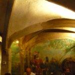 fresque à l'intérieur du restaurant.