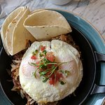 Duck confit hash and eggs