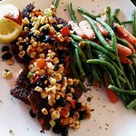 Blackened Group with Roasted Corn and Black Bean Relish