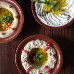 Cold Starters: Hummus, Labneh, Tzatziki