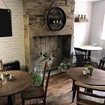 Cosy seating on the ground floor where we are dog friendly