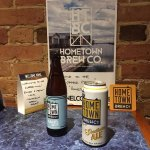 Hometown Brew Co. selection from Port Rowan. Locally grown hops and blueberries as well.