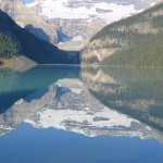 The reflections seen on Lake Louise are wonderful.