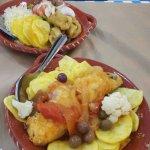 I due piatti di baccalà ordinati