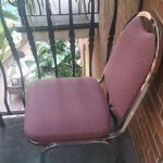 The other chair on the balcony