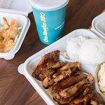 Ono Hawaiian BBQ Teriyaki Chicken Plate + Crab Rangoon
