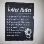 fun notice on the toilet wall