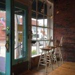 Window in Quiero Cafe, Saco Maine