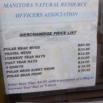 Souvenir Price List