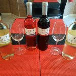 New selection of house wines 8 euros per bottle 3 euros per large glass. Come and enjoy