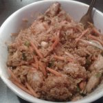 Fried Rice with Chicken, Pork tenderloin and Shrimp