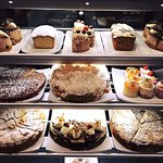 Selection of freshly baked cakes