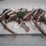 Lamb chops with Greek Pesto
