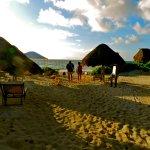 The beach area of Acamaya Reef Cabanas Hotel in Puerto Morelos