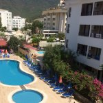Lovely pool area, lots of sun beds available throughout the day.