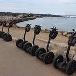 Our Segways parked up at one of the photo points.