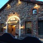 The entry to the Via Sforza resembles an ancient Italian stone farmhouse