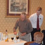 Irish Coffee demo after dinner
