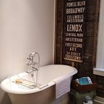 Randolph Morris soaking tub in the Avery Master Suite.
