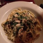 Shrimp scampi, chicken alfredo And the snapper. All three winderf entree