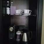 tea kettle and nespresso maker