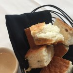 Bread with dipping sauce