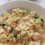 Shrimp Farfalle - the alfredo sauce was light, not too heavy