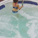 Her favorite was the hot tub. She's 3 and could reach throughout. Nice break for parents to be a
