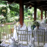 Setup wedding in garden of Softwater