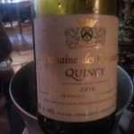 Vin blanc Quincy 2016
