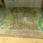 A historical model of Bungay at the cafe, which doubles as a visitor centre