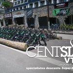 la devanture de notre Shop Centsix VTT l'été