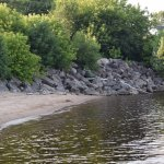 petit espace au bord du lac