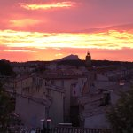 sunrise from our roof top terrasse