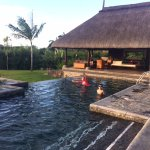 View of the Mauritius Veranda next to our private pool