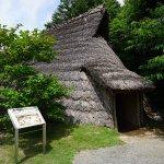 屋外展示の竪穴式住居