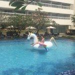 the unicorn floatie!