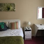 Clean, comfortable room. Lovely flowers. Well kept.