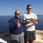 Great Brook Trout catch with Eric at Northwoods Outfitters