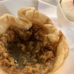Butter tart made with local maple syrup