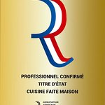 Obtention du titre maître restaurateur juillet 2018 pour le restaurateur l'Atelier de Nicolas
