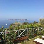 Frühstücksterasse Blick Richtung Insel Meis / GR