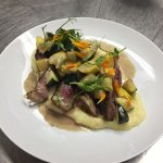 Grass fed beef with fresh vegetables picked from the Hotel Washingtons garden and whipped potato