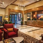 Lobby and Guest Services Desk. Guest complimentary guest HP Pro One 400 Touch Screen and Apple I