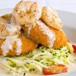 "Lump Crabcakes with Zucchini Basil ""Pasta"""