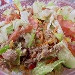 Tuna salad at Chiringuito El Ayo